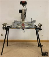 QUALITY CRAFTSMAN 12 INCH MITRE SAW WITH STAND