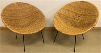 DESIRABLE PAIR OF MID-CENTURY SCOOP CHAIRS