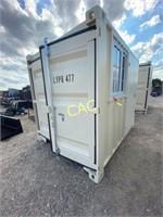 NEW 9' Container w/Walk Thru Door & Window
