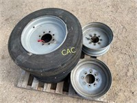 3pc 215x75R17.5 Tires w/Rims, 2pc 17.5 Rims