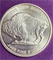 ONE TROY OUNCE .999 SILVER BUFFALO COIN - MINT(44)