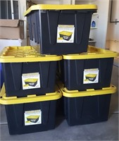 815 - 5 TOUGH BOX STORAGE CONTAINERS