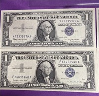 LOT OF 4 SILVER CERTIFICATES (3)