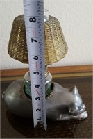 814 - PIG OIL LAMP: HEAVY