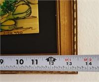 """814 - ART FRAMED """"FIDDLER"""" & ASIAN GARDEN"""