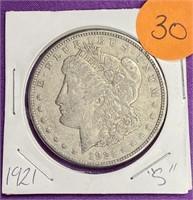 "1921 ""S' - MORGAN SILVER DOLLAR (30)"