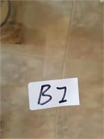 (B1)  HANDMADE MAKORA GREEN/YELLO9W BUD VASE