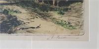 814 - ART: FRAMED & SIGNED WATERCOLOR