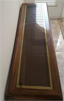 """814 - WOOD CONSOLE TABLE W/INLAY TOP (52"""" LONG)"""