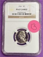 1961 GRADED PF67 CAMEO NICKEL (13)