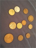 815 - LOT OF 11 COLLECTOR COINS