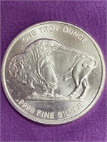 ONE TROY OUNCE .999 SILVER BUFFALO COIN - MINT(41)