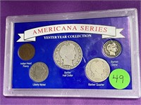 AMERICAN SERIES YESTERYEAR COLLECTION COINS (49)