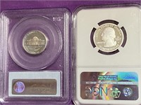 LOT OF 2 GRADED COINS - SEE PICS (56)