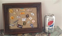 814 - GOLF TOURNAMENT COLLECTOR PINS IN FRAME