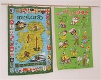 814 - IRELAND & GOLF WALL HANGINGS