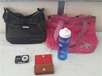 815 - CASUAL TOTES, CAMERA, WATER BOTTLE