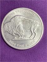 ONE TROY OUNCE .999 SILVER BUFFALO COIN - MINT(43)