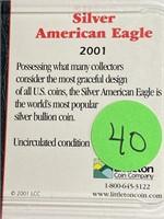 2001 - SILVER AMERICAN EAGLE DILLAR (40)