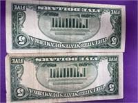 2 $5 SILVER CERTIFICATES (2)