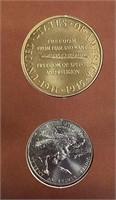 WORLD WAR II 50TH ANNIVERSARY COIN & METAL SET(58)