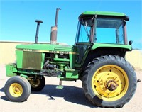 1979 John Deere 4240, cab, diesel eng, 3-pt, pto, 2-pr rem, w/new cab kit being installed, front wts, SN: 013381