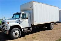 1984 International TK w/22' Van Box, diesel eng, 5-spd/2-spd trans