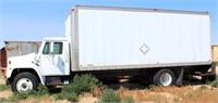 1984 International S1900 TK w/22' Van Box, diesel eng, 5-spd/2-spd trans
