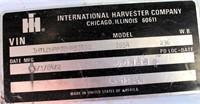 1984 International S1900 TK (view 4 - VIN Plate)