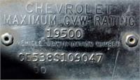 Chevrolet 50 TK (view 2- VIN Plate)