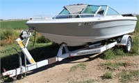 1983 Shorelander Boat Trailer, bumper-pull, (comes w/boat in bad condition)