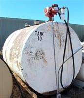 Fuel Tank, 1500-gal w/elec Pump