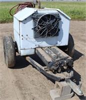 Air Comprssor on single-axle trailer