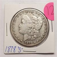 "1878 ""S"" - MORGAN SILVER DOLLAR (12)"