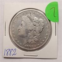 1882 - MORGAN SILVER DOLLAR (7)