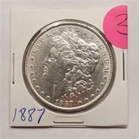 1887 - MORGAN SILVER DOLLAR (3)