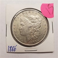1886 - MORGAN SILVER DOLLAR (15)