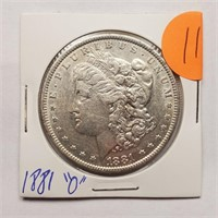 """1881 """"O"""" - MORGAN SILVER DOLLAR (11)"""