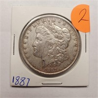 1887 - MORGAN SILVER DOLLAR (2)