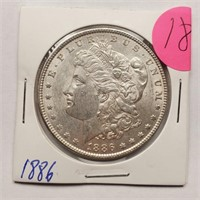 1886 - MORGAN SILVER DOLLAR (18)