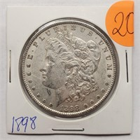 1898 - MORGAN SILVER DOLLAR (20)