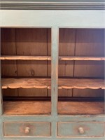 Early Pine Flat to Wall Cupboard