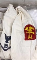 Large box of Naval Military Issued Shirts