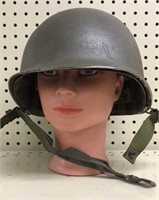 WWII Military Issued Helmet w/Insert