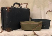 Military Envelope Caps & Vintage Travel Case