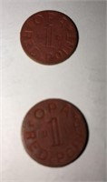 WWII Red Ration Tokens + More