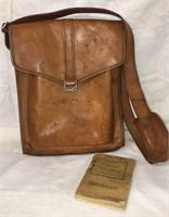 Leather Satchel plus Soldier's Handbook