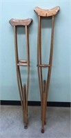 Military Wooden Crutches