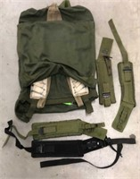 Military Issued Field Bag & Straps