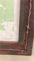 Barbed Wire Frame w/ Map